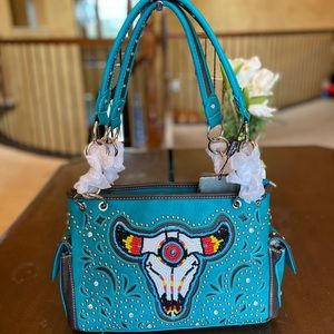 Montana West Beaded Collection Concealed Carry Bag